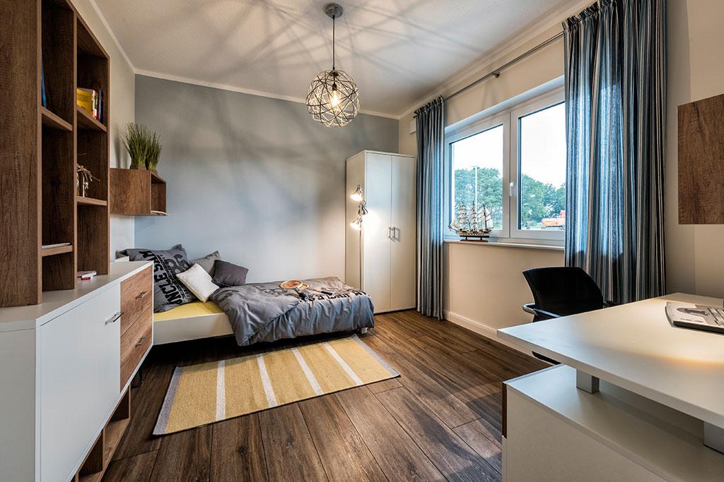 Massivhaus bauen - Bungalow Musterhaus Innenansicht Kinderzimmer - Rotenburg Engellandt Hausbau